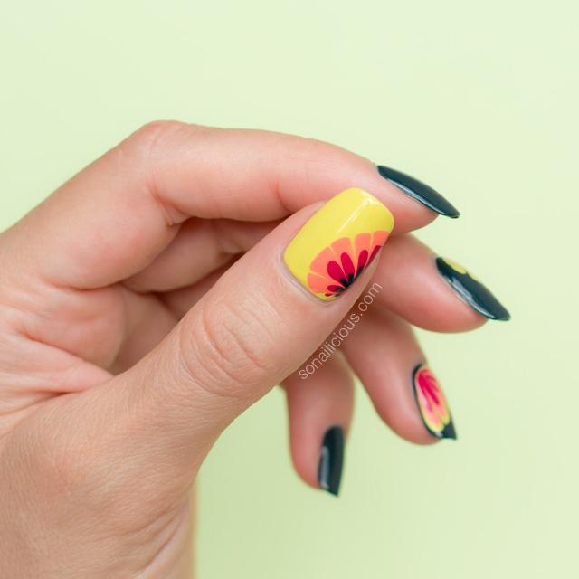 dry marble nail art