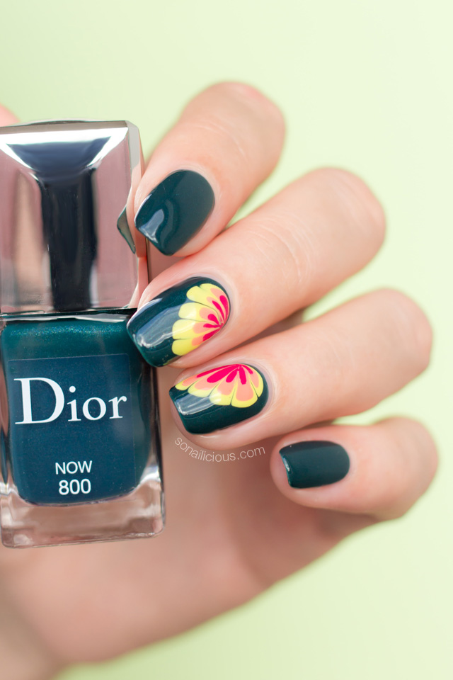 flower nail design, Dior Now