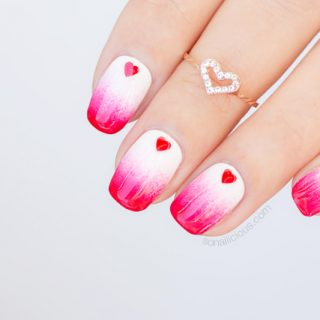 valentines nails, valentines day nail art
