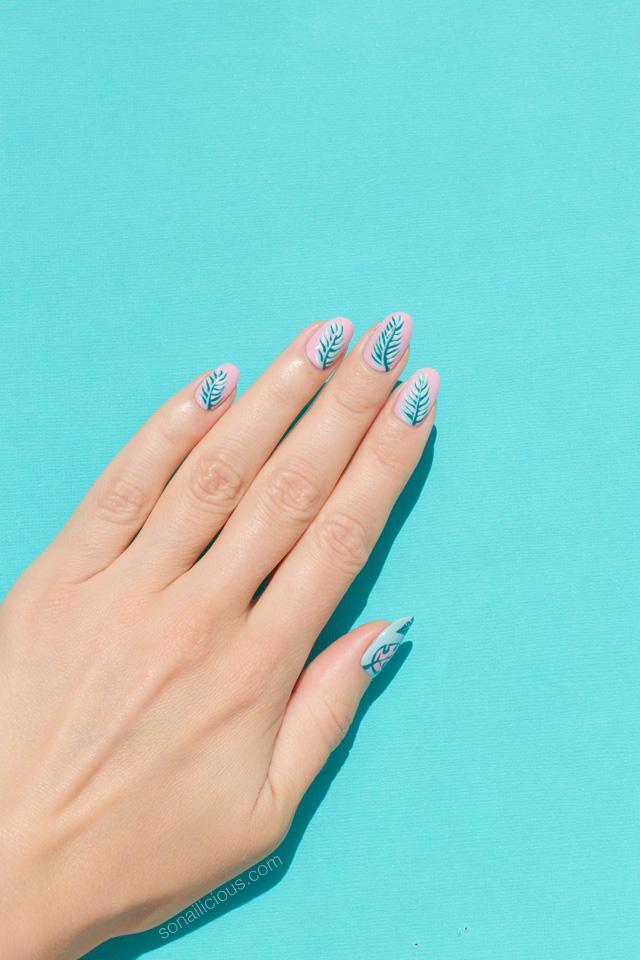 beach nails, summer nails, opi fiji
