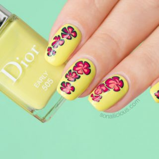 dior early swatch, spring nails