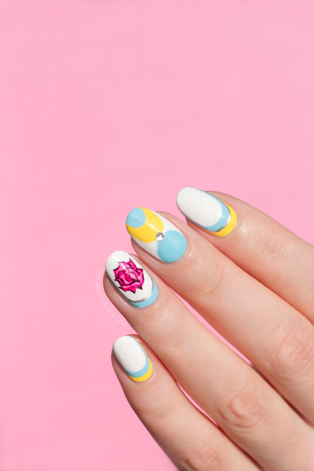 elegant nail art, spring nails, 1