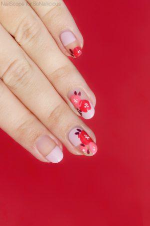 floral nails, spring nails