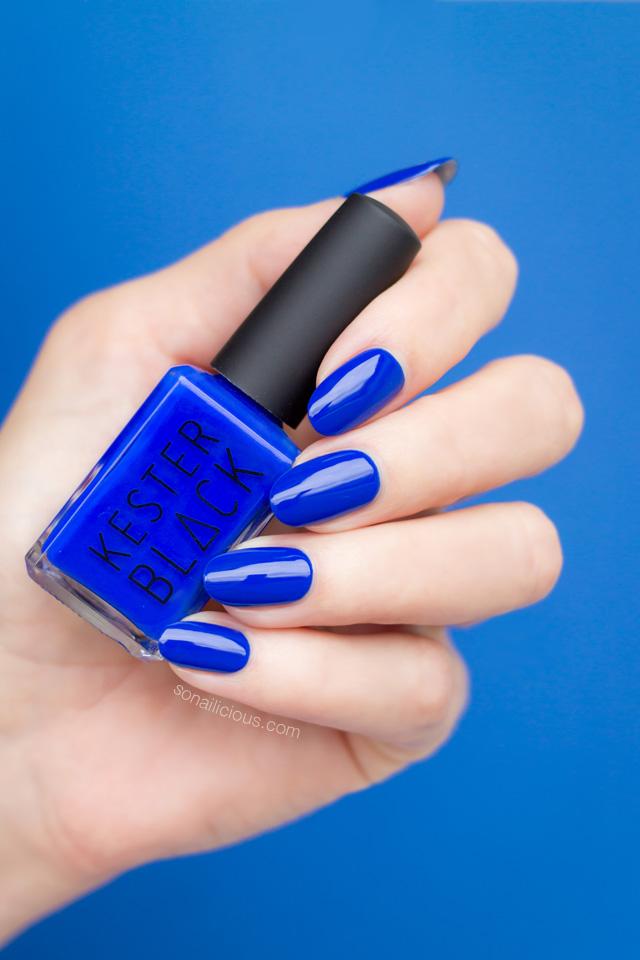 kester black monarch, electric blue nail polish