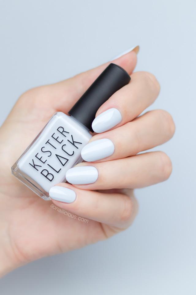 kester black sky, light grey nail polish