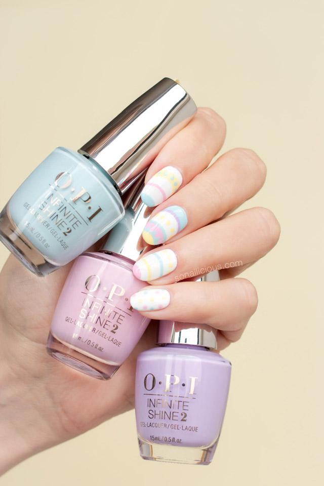 spring nail art, opi infinite shine nail polish