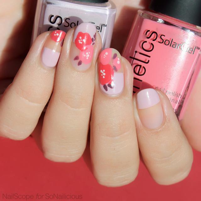 spring nails, floral nail design