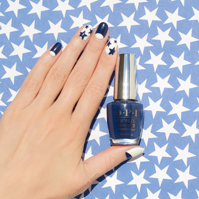 Blue and White Nails, Star Nails
