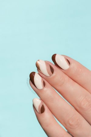 brown fall nail design