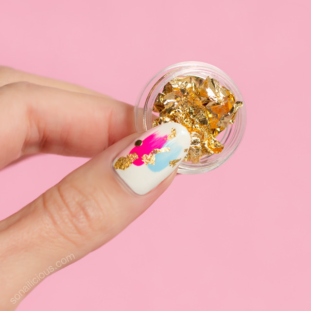 foil nails, japanese nail art