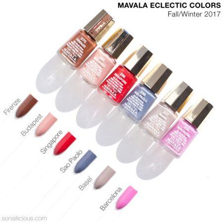 mavala eclectic colors fall nail polish collection