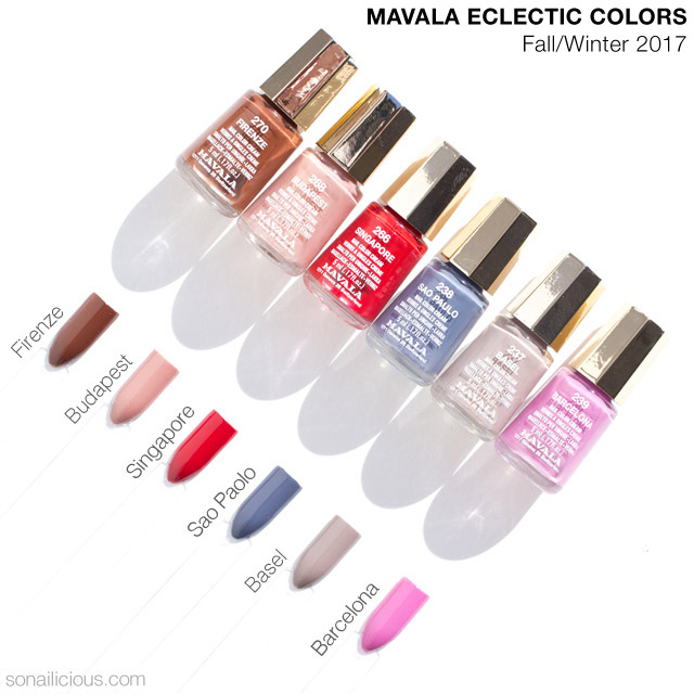 mavala eclectic colors fall nail polish collection