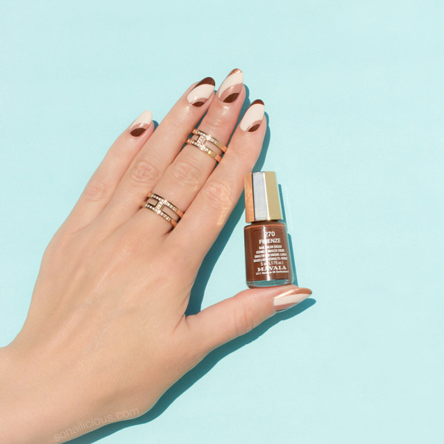 nude fall nail design, mavala firenze