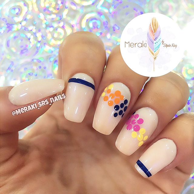 Abstract nails by @meraki_srs_nails, inspired by Raffles show