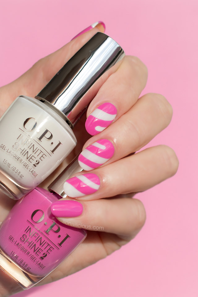 Candy nails, opi funny bunny