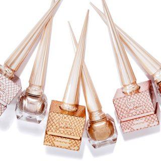 best summer 2017 nail polish colours, louboutin metalinude nail colours