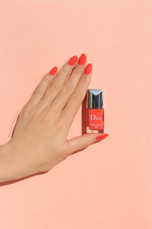 dior coral crush swatch