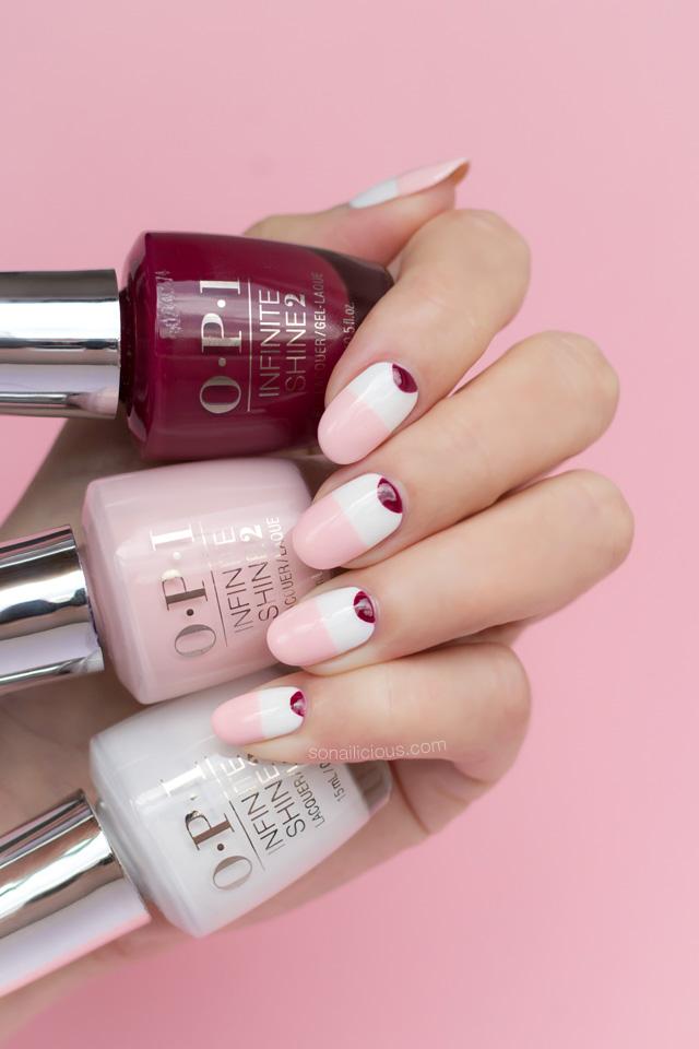 pink and white nails, minimalist nails