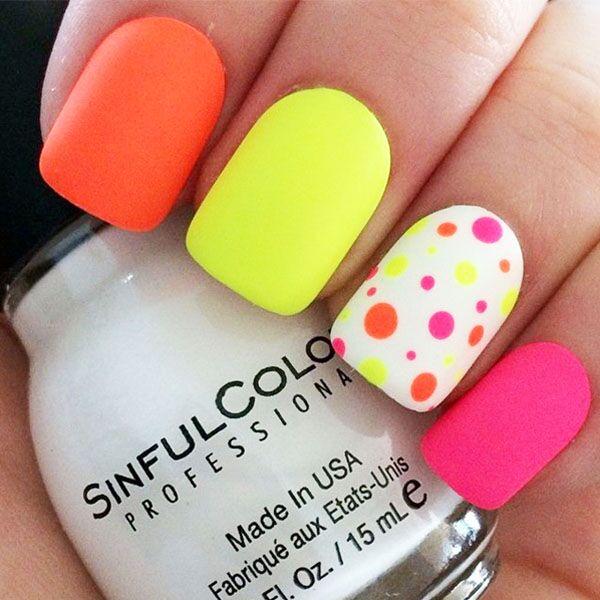 polka dot nails, summer nails by @banksysgirlxo