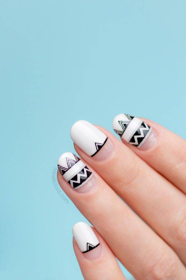 summer nail design, aztec nails