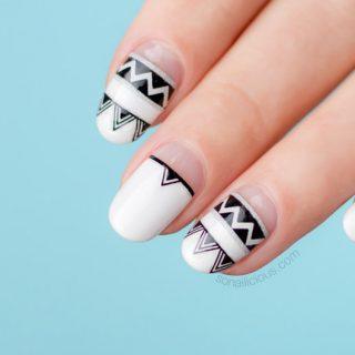 summer nail designs, aztec nails