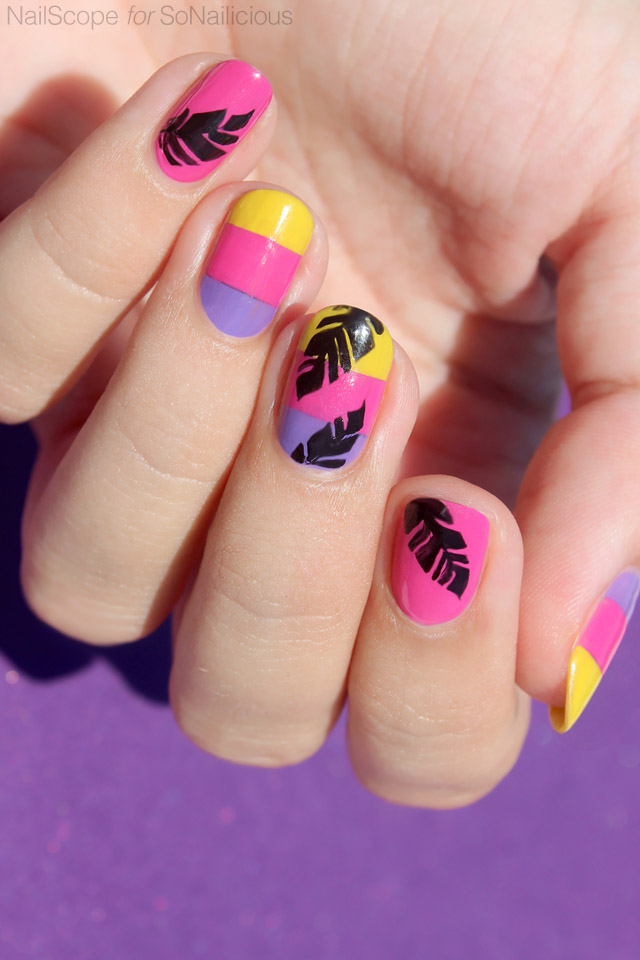 tropical vacation nails, beach nails