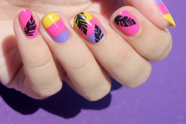 vacation nails, beach nails how to