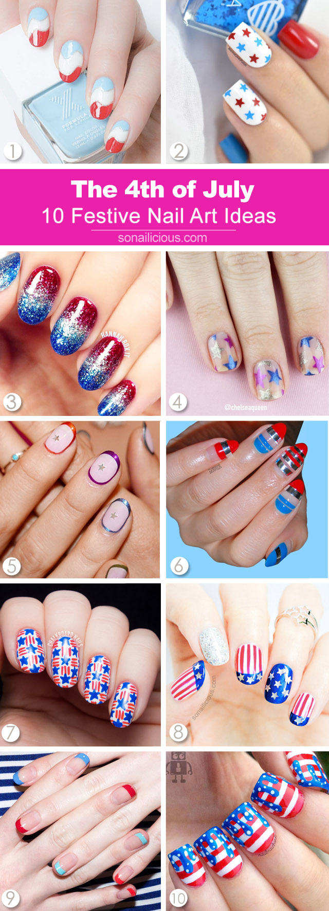 10 best 4th of july nail designs