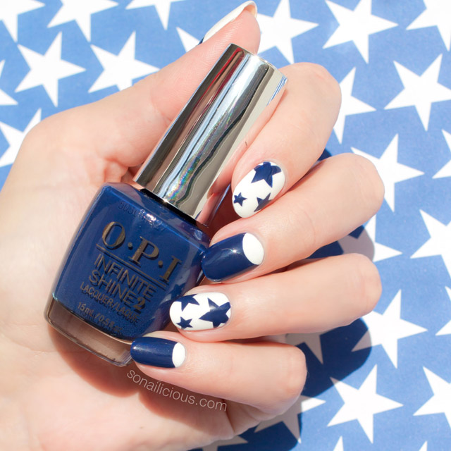 Star Nails with OPI Infinite Shine Get Ryd-of-thym Blues