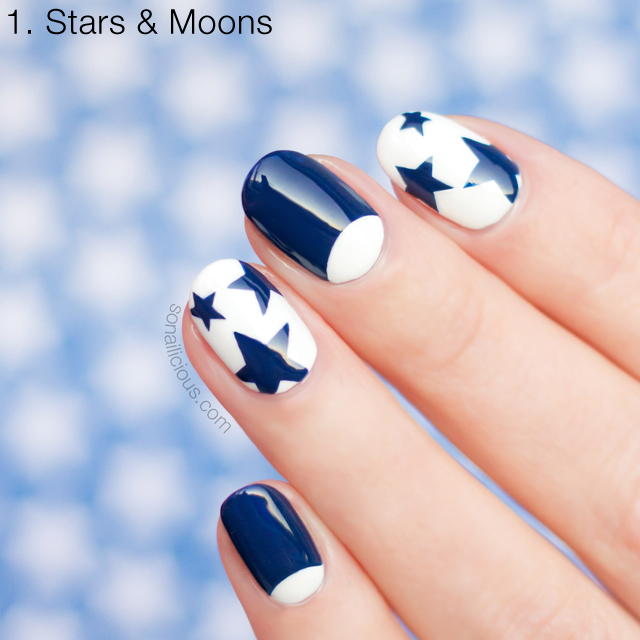Stars and Moons nails