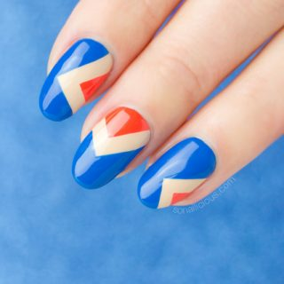 fashion nails, nail art step by step