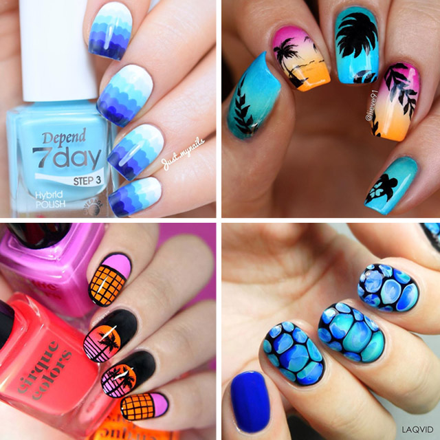 best beach nail designs
