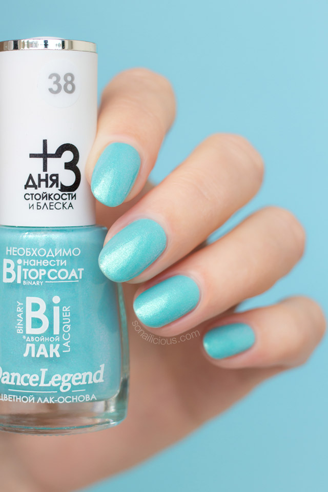dance legend linda swatch, turquoise nail polish, 1