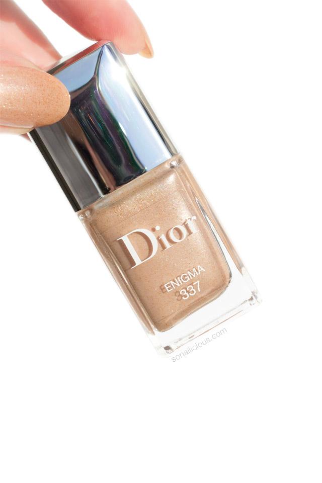 dior 337 enigma, gold nail polish