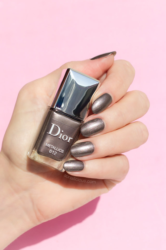 dior metallics swatches, metallic nail polish