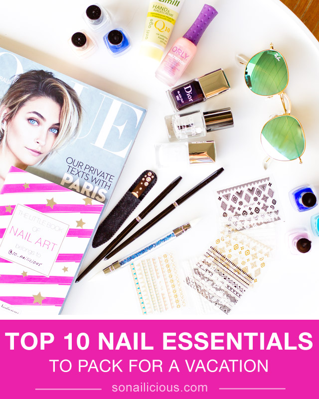 nail art essentials to pack vacation
