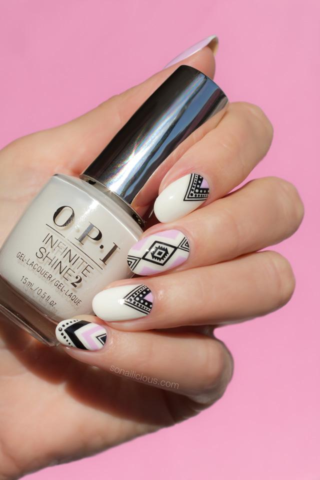 summer nails, opi alpine snow