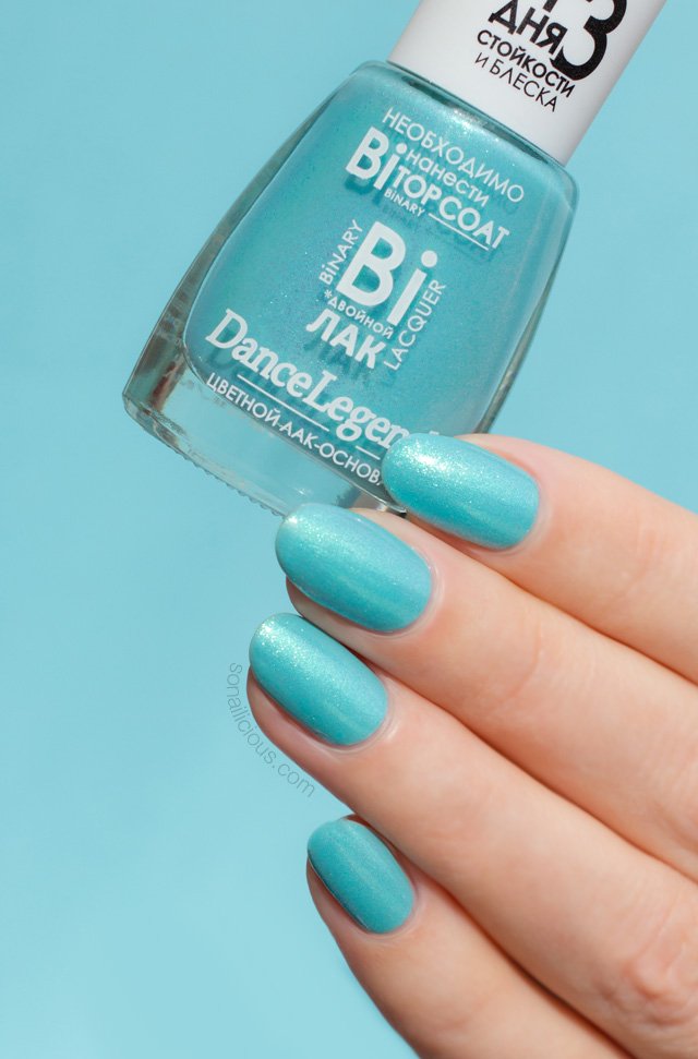 turquoise nails, dance legend linda swatch review