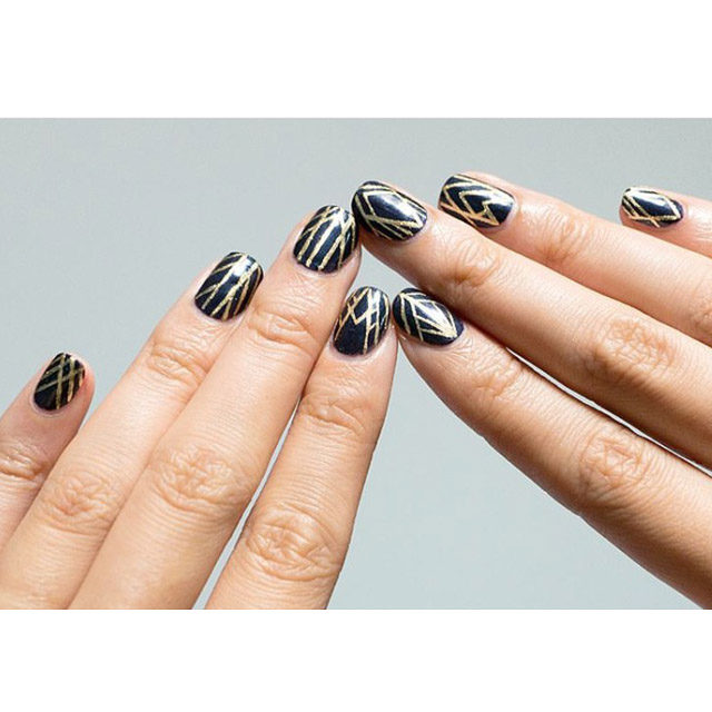 Art Deco Fall nails by @dowantmakeup