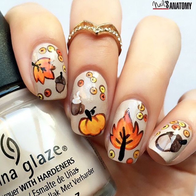 30 Majestic Fall Toe Nail Designs Images For 2019: Autumn Nail Art By @nailsanatomy