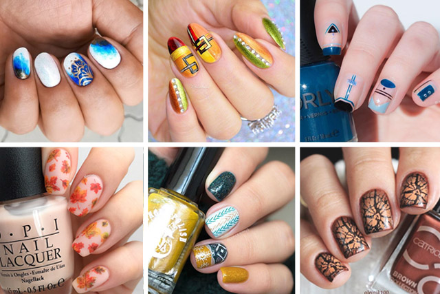 the best fall nail art, 10 best fall nail designs
