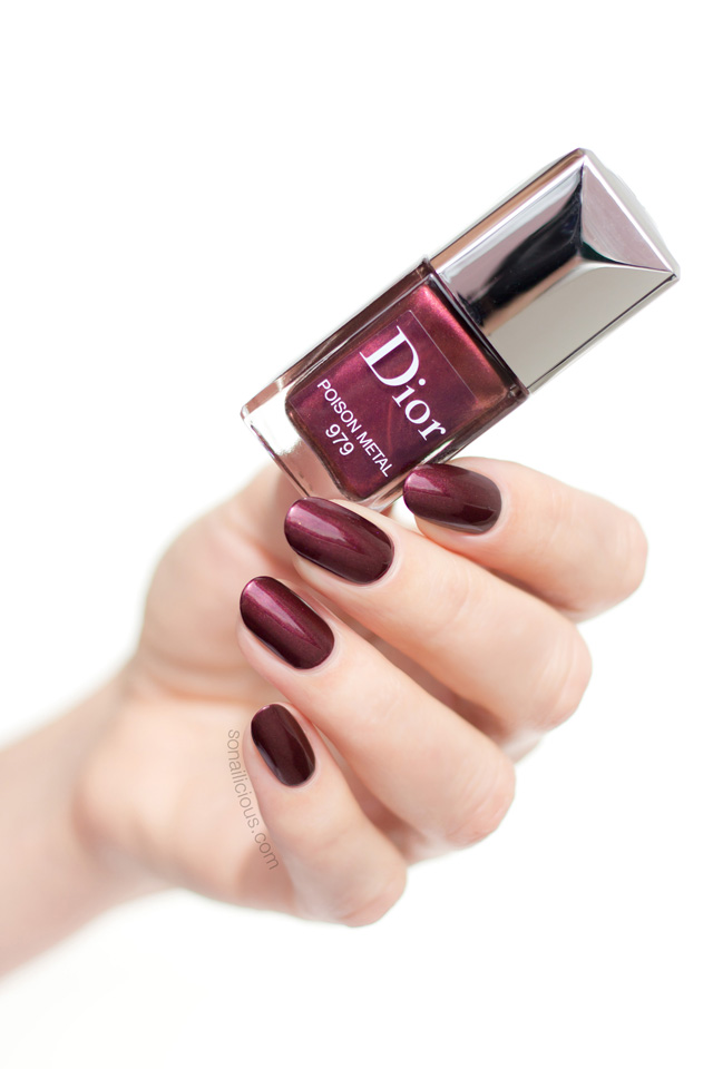 dior poison metal nail polish swatches