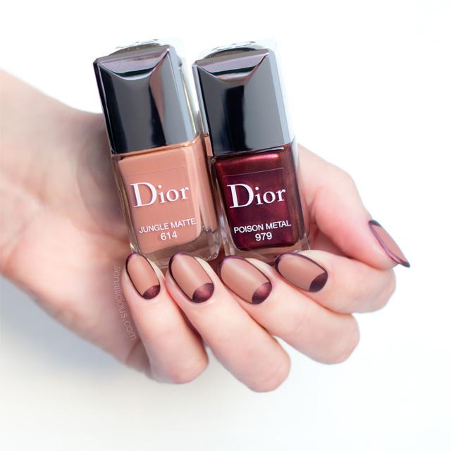 fall nails, dior rouge nail polish