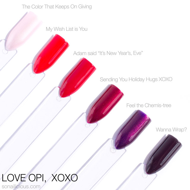 Love OPI XOXO - reds