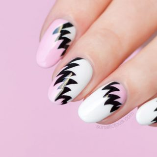 the hottest nail art trend, 80s nail art