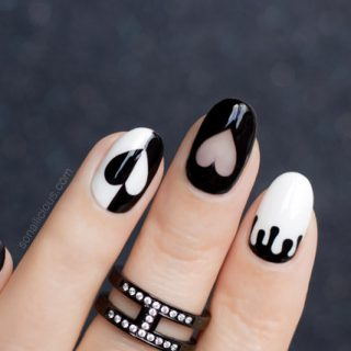 black valentines day nails, 11