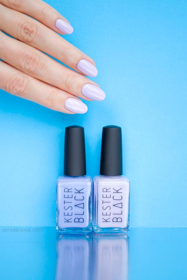 kester black luna swatches, purple nail polish