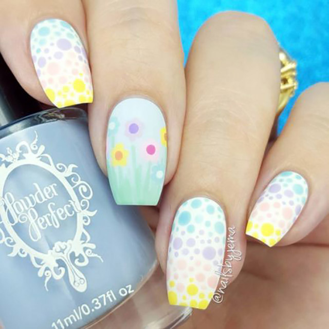 Easter dotticure by @nailsbyjema