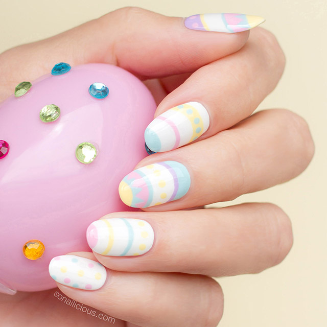 Easter nail design by @So_Nailicious