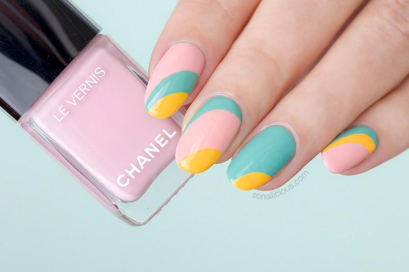 chanel 588 nuvola rosa nail polish, pink nail design